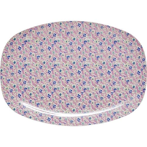 Rice Rectangle Melamine Plate | Cascading Flowers