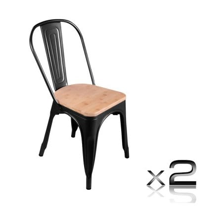 replica designer dining chairs replica tolix dining chair black bamboo seat 2